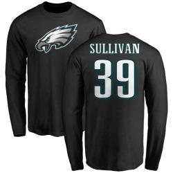 Men's Chandon Sullivan Philadelphia Eagles Name & Number Logo Long Sleeve T-Shirt - Black