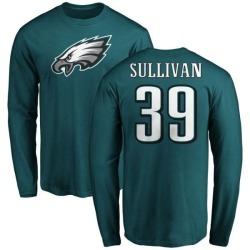 Men's Chandon Sullivan Philadelphia Eagles Name & Number Logo Long Sleeve T-Shirt - Green