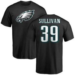 Men's Chandon Sullivan Philadelphia Eagles Name & Number Logo T-Shirt - Black