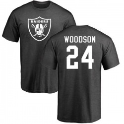 Men's Charles Woodson Oakland Raiders One Color T-Shirt - Ash