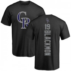 Men's Charlie Blackmon Colorado Rockies Backer T-Shirt - Black