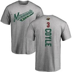 Men's Charlie Coyle Minnesota Wild Backer T-Shirt - Ash
