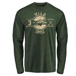 Men's Charlie Coyle Minnesota Wild Insignia Tri-Blend Long Sleeve T-Shirt - Green