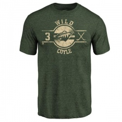 Men's Charlie Coyle Minnesota Wild Insignia Tri-Blend T-Shirt - Green
