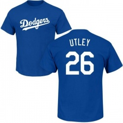 Men's Chase Utley Los Angeles Dodgers Roster Name & Number T-Shirt - Royal