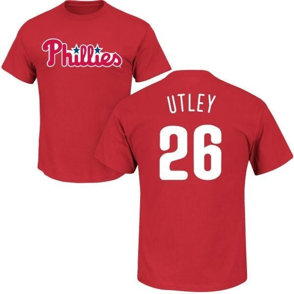 pretty nice 45e7c d0105 Men's Chase Utley Philadelphia Phillies Roster Name & Number T-Shirt - Red  - Teams Tee