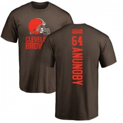 Men's Chigbo Anunoby Cleveland Browns Backer T-Shirt - Brown