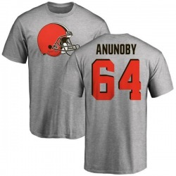 Men's Chigbo Anunoby Cleveland Browns Name & Number Logo T-Shirt - Ash