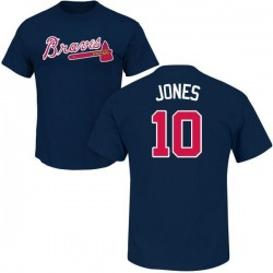 Men's Chipper Jones Atlanta Braves Roster Name & Number T-Shirt - Navy