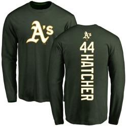 Men's Chris Hatcher Oakland Athletics Backer Long Sleeve T-Shirt - Green