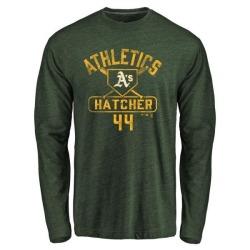Men's Chris Hatcher Oakland Athletics Base Runner Tri-Blend Long Sleeve T-Shirt - Green