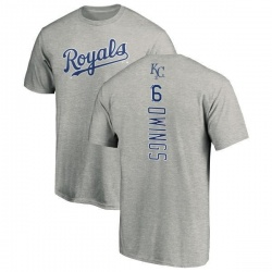 Men's Chris Owings Kansas City Royals Backer T-Shirt - Ash