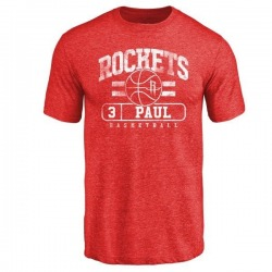 Men's Chris Paul Houston Rockets Red Baseline Tri-Blend T-Shirt
