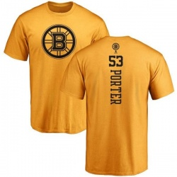 Men's Chris Porter Boston Bruins One Color Backer T-Shirt - Gold