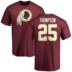 Men's Chris Thompson Washington Redskins Name & Number Logo T-Shirt - Maroon