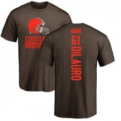 Men's Christian DiLauro Cleveland Browns Backer T-Shirt - Brown