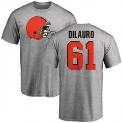 Men's Christian DiLauro Cleveland Browns Name & Number Logo T-Shirt - Ash