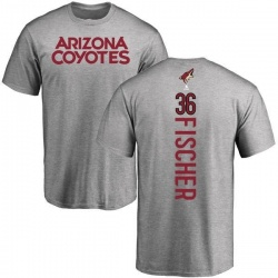Men's Christian Fischer Arizona Coyotes Backer T-Shirt - Ash