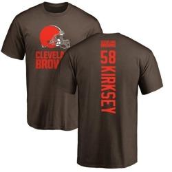 Men's Christian Kirksey Cleveland Browns Backer T-Shirt - Brown