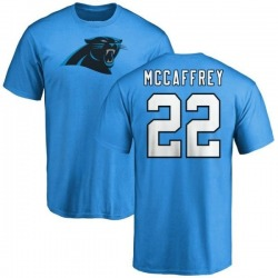 Men's Christian McCaffrey Carolina Panthers Name & Number Logo T-Shirt - Blue