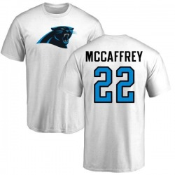Men's Christian McCaffrey Carolina Panthers Name & Number Logo T-Shirt - White