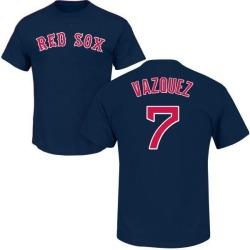 Men's Christian Vazquez Boston Red Sox Roster Name & Number T-Shirt - Navy