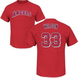 Men's C.J. Wilson Los Angeles Angels Roster Name & Number T-Shirt - Red