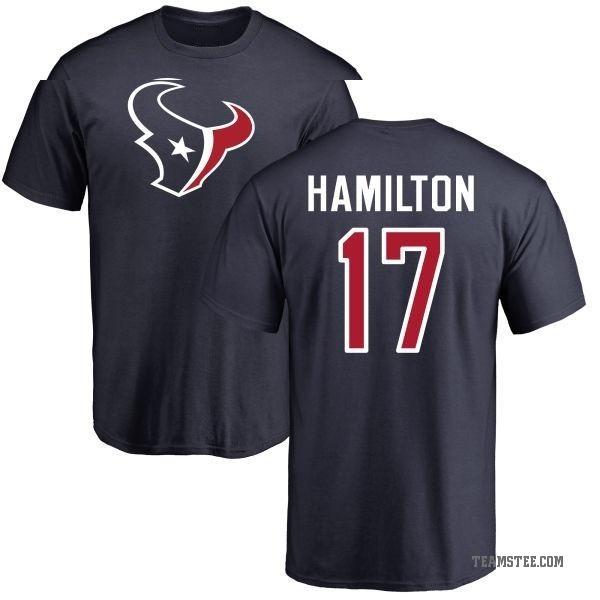 new product 22a5c effbe Men's Cobi Hamilton Houston Texans Name & Number Logo T-Shirt - Navy -  Teams Tee