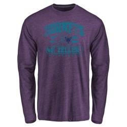 Men's Cody Zeller Charlotte Hornets Purple Baseline Tri-Blend Long Sleeve T-Shirt
