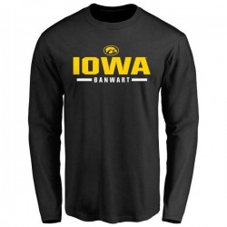Men's Cole Banwart Iowa Hawkeyes Sport Wordmark Long Sleeve T-Shirt - Black