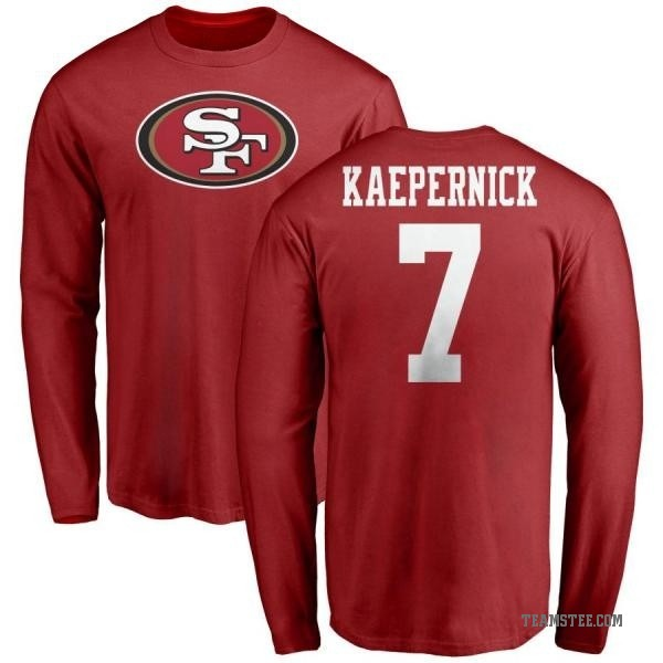 hot sale online 2a79d 2c5db Men's Colin Kaepernick San Francisco 49ers Name & Number Logo Long Sleeve  T-Shirt - Red - Teams Tee