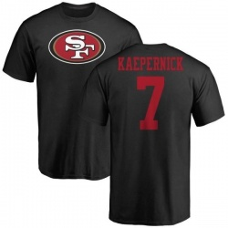 Men's Colin Kaepernick San Francisco 49ers Name & Number Logo T-Shirt - Black