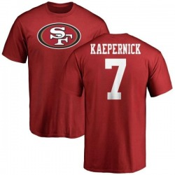 Men's Colin Kaepernick San Francisco 49ers Name & Number Logo T-Shirt - Red