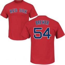 Men's Colten Brewer Boston Red Sox Roster Name & Number T-Shirt - Scarlet