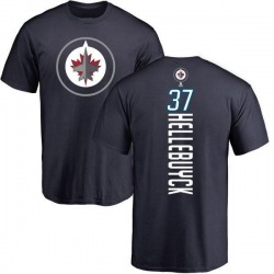 Men's Connor Hellebuyck Winnipeg Jets Backer T-Shirt - Navy
