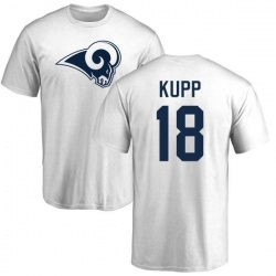 Men's Cooper Kupp Los Angeles Rams Name & Number Logo T-Shirt - White