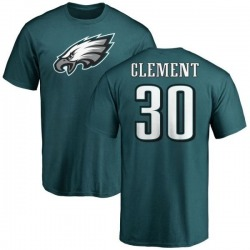 Men's Corey Clement Philadelphia Eagles Name & Number Logo T-Shirt - Green