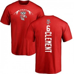Men's Corey Clement Wisconsin Badgers Football Backer T-Shirt - Red