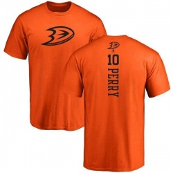 Men's Corey Perry Anaheim Ducks One Color Backer T-Shirt - Orange
