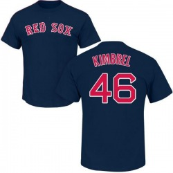 Men's Craig Kimbrel Boston Red Sox Roster Name & Number T-Shirt - Navy