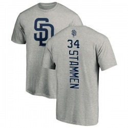 Men's Craig Stammen San Diego Padres Backer T-Shirt - Ash