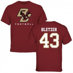 Men's Curt Bletzer Boston College Eagles Football T-Shirt - Maroon
