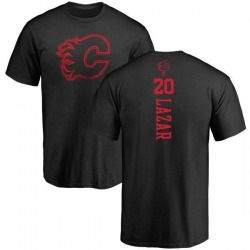Men's Curtis Lazar Calgary Flames One Color Backer T-Shirt - Black
