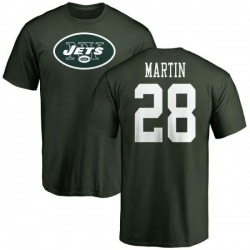 Men's Curtis Martin New York Jets Name & Number Logo T-Shirt - Green