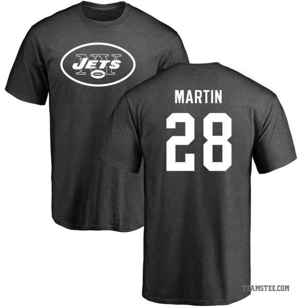 new product 38918 bc687 Men's Curtis Martin New York Jets One Color T-Shirt - Ash - Teams Tee