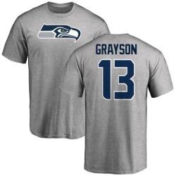 Men's Cyril Grayson Seattle Seahawks Name & Number Logo T-Shirt - Ash