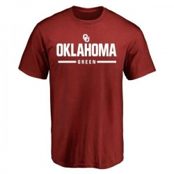 Men's Dahu Green Oklahoma Sooners Sport T-Shirt - Crimson