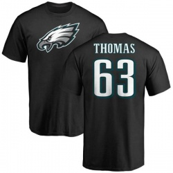 Men's Dallas Thomas Philadelphia Eagles Name & Number Logo T-Shirt - Black