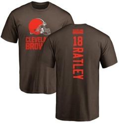 Men's Damion Ratley Cleveland Browns Backer T-Shirt - Brown