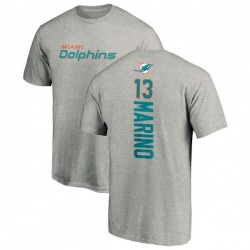 Men's Dan Marino Miami Dolphins Backer T-Shirt - Ash